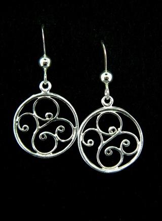 Silver Scrolled Swirls Earrings