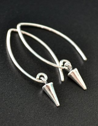 Silver Marquis Spike Earrings