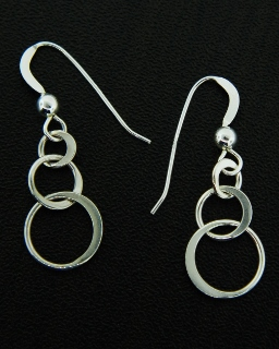 Silver Ringlet Earrings