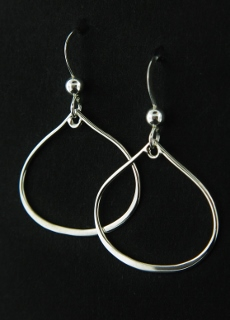 Silver Lotus Bud Earrings
