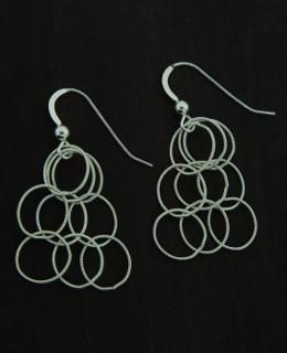 Cascading Silver Earrings