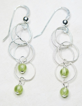 Spheres Earrings - Peridot