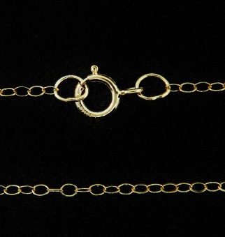 "18"" 14K Gold Filled Cable Chain"