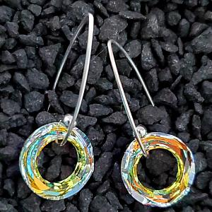 Marquis Halo Crystal AB Earrings