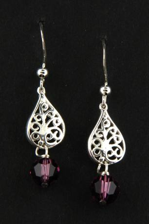 Crystal Amethyst Sparkles Earrings