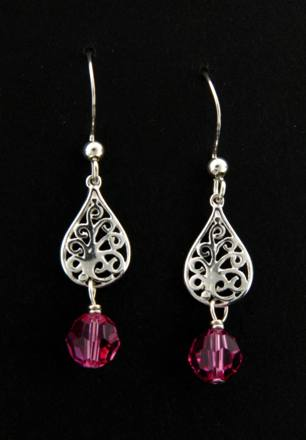 Crystal Rose Sparkles Earrings