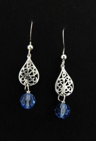 Crystal Light Sapphire Sparkles Earrings