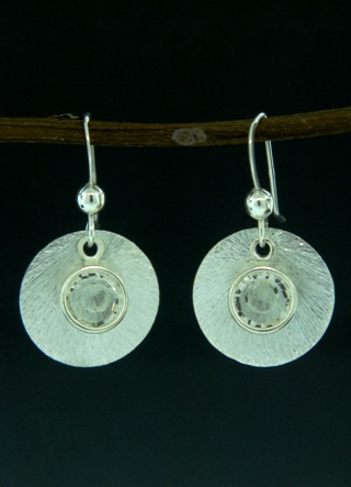 Silver Reflection Earrings in Clear