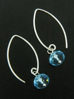 Marquis Aqua Crystal Earrings