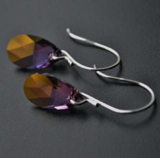 Purple Haze Crystal Briolette Earrings