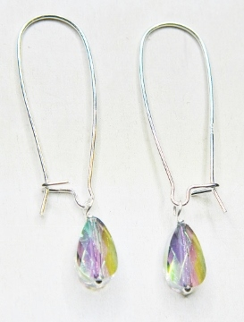 Mod Crystal Teardrop Kindney Earrings - Paradise shine