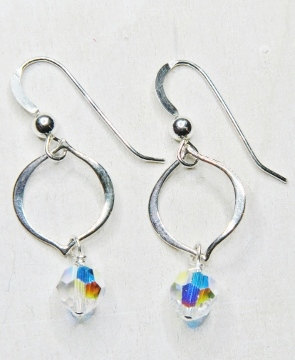 Arabesque Crystal Earrings - Clear AB