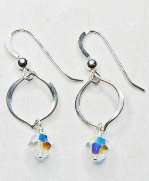 Arabesque Crystal Earrings - Clear AB