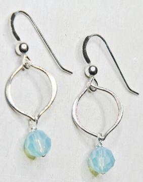 Arabesque Crystal Earrings - Pacific Opal