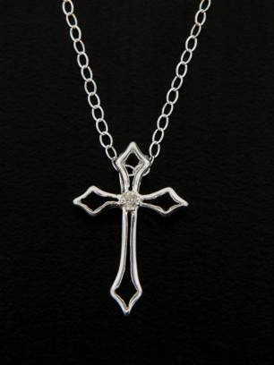 Cross w/ Crystal Necklace