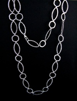 Hammered Long Necklace