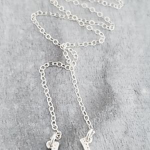 Silver Sideways Horseshoe Necklace