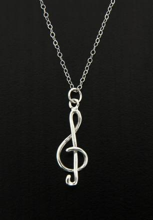 G Clef Music Note Necklace