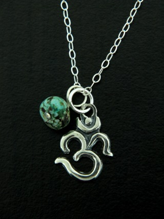 Ohm Yoga w/ Turquoise Necklace