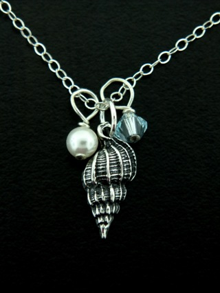 Silver Sea Shell Necklace