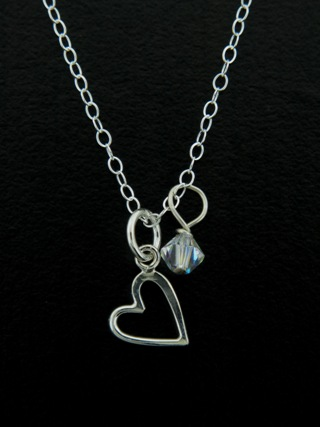 Silver Tiny Open Your Heart Necklace