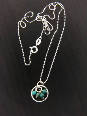 Gemstone Cluster Necklace Turquoise