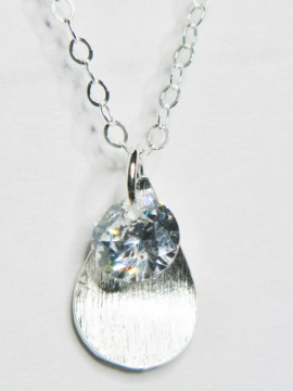 CZ Petal Drops Necklace - Clear
