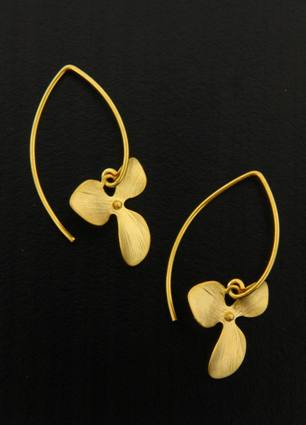 Gold Marquis Orchid Earrings