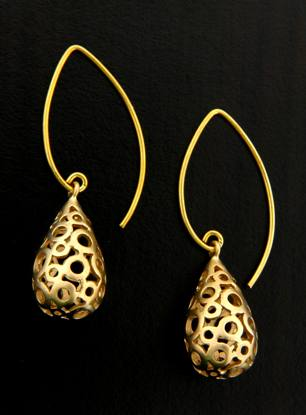 Golden Marquis Bubbles Earrings