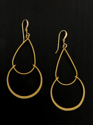 Golden Matte Chandelier Earrings