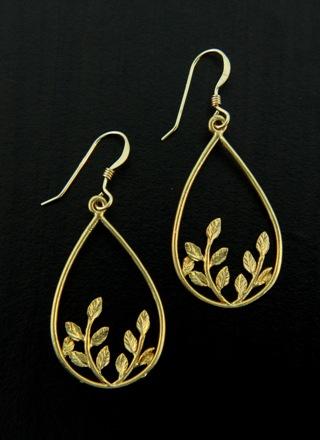 Gold Botanical Earrings