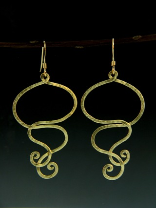Gold Squiggly Earrings