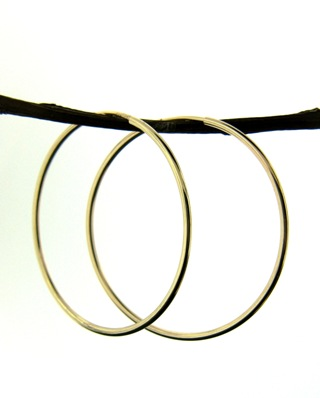 14K Gold-Filled Endless Hoops Earrings -35mm