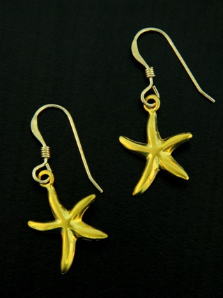 Gold Starfish Earrings