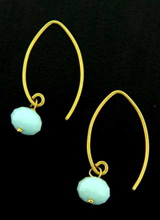 Gold Marquis Alabaster Earrings