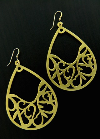 Gold Arabesque Earrings