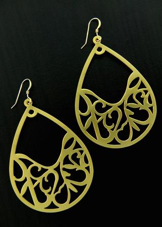 Gold Arabesque Earrings