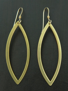 Gold Mod Oval Earrings