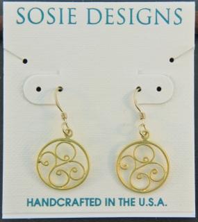 Gold Scrolled Swirls Earrings