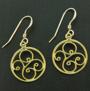 Gold Scrolled Swirls Earrings