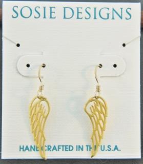 Gold Angel Wings Earrings