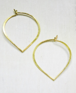 Gold Lotus Petal Hoops