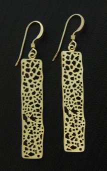 Gold Matte Screen Earrings
