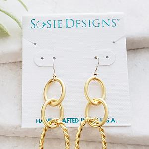 Gold Chunky Chain Link Earrings