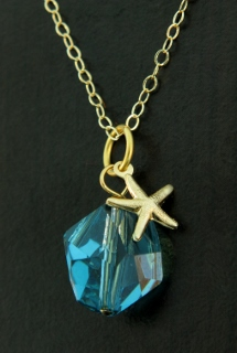 Gold Cosmic Starfish Necklace