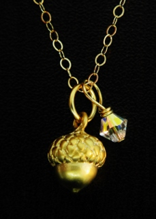 Gold Acorn Necklace