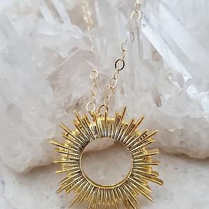 Gold Sun Burst Necklace