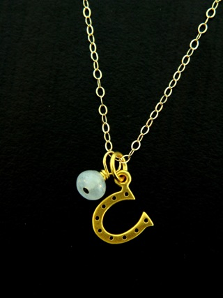 Gold Vermeil Lucky Horseshoe Necklace
