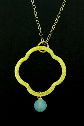 Moroccan Gold Vermeil Pacific Opal Necklace