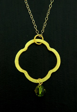 Moroccan Gold Vermeil Olivine Necklace